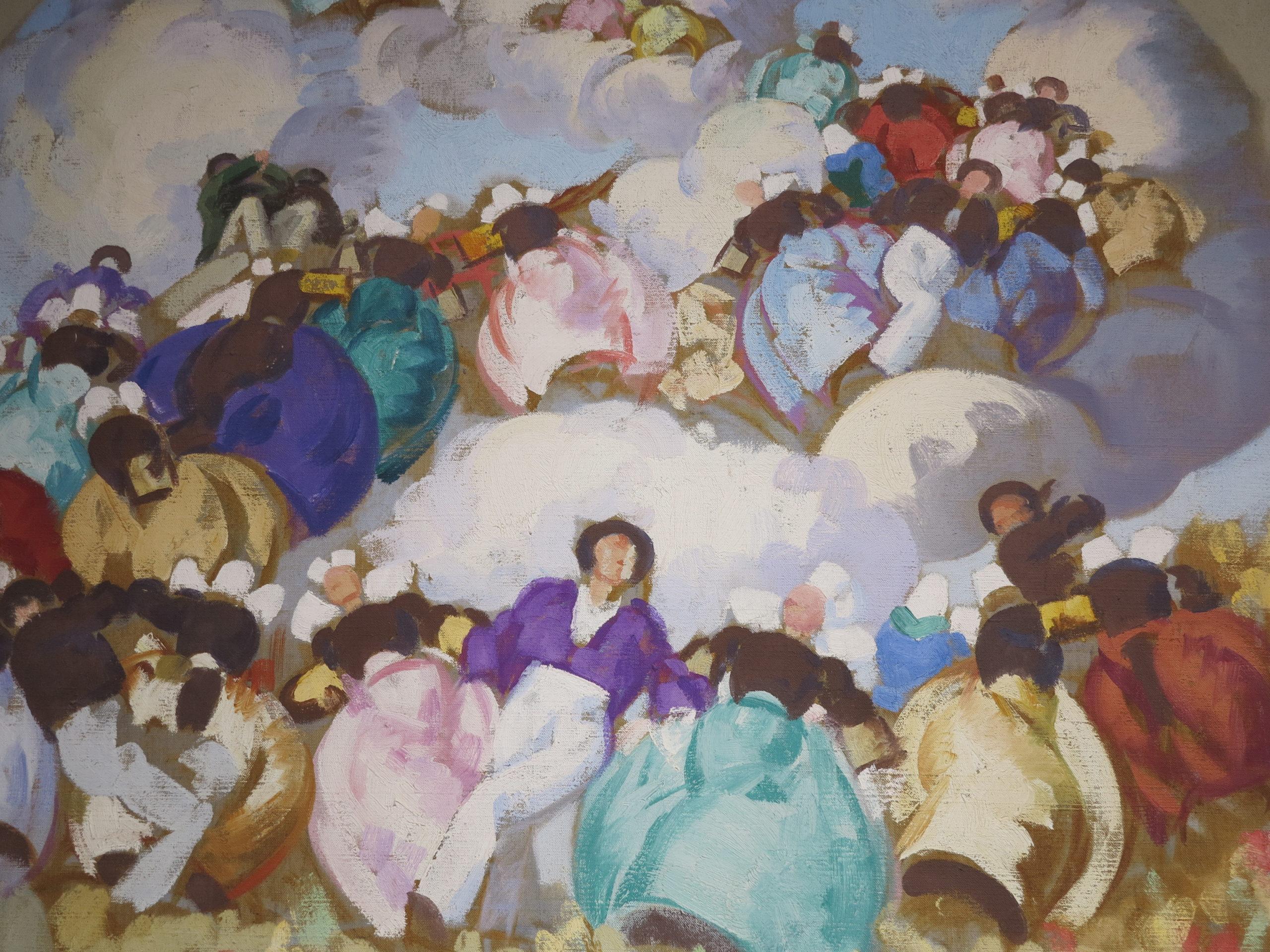 Etude pour le plafond du théâtre de Rennes, Jean-Julien Lemordant, vers 1913-1914, huile sur toile, Musée de Morlaix