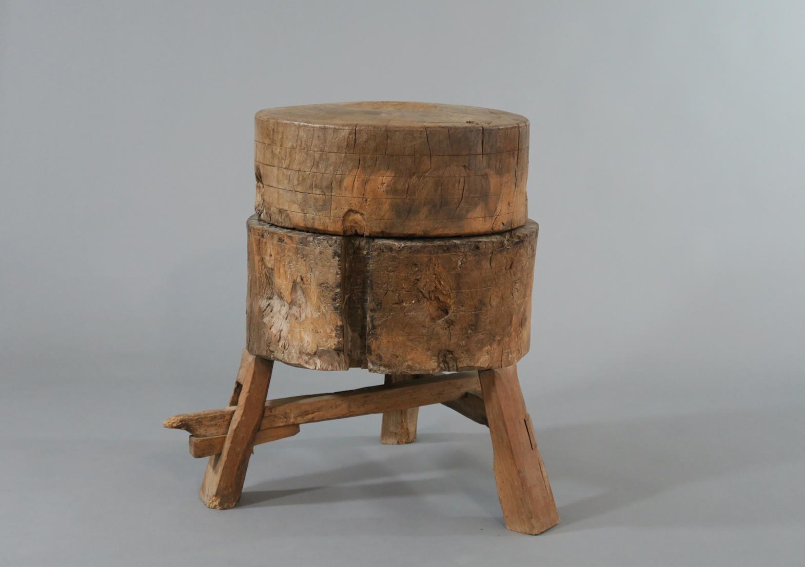 Moulin celtique, bois et métal, Collection Écomusée