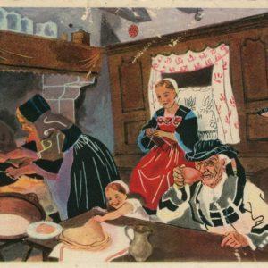 Pontivy, jour de galette, carte postale © musée de la carte postale de Baud